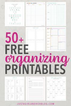Free Printable Library | 65+ Free Organizing Printables