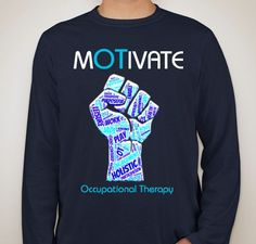 Such a cool OT shirt! Great way to raise awareness about Occupational Therapy! #occupationaltherapy