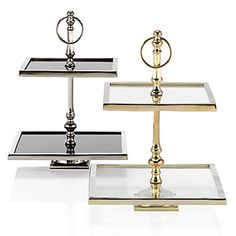 Up the ante on glamorous presentations by using our stunning metallic hued, Two-Tiered Stand to display your chosen items.