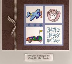 Brown boy birthday by malia_r - Cards and Paper Crafts at Splitcoaststampers