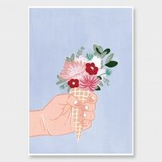 Waffle Cone Art Print by Wild Wagon See here: http://www.endemicworld.com/giclee-art-prints-nz.html?limit=all&style=botanical