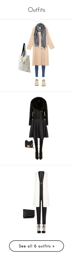 """""""Outfits"""" by anne-franky ❤ liked on Polyvore featuring AG Adriano Goldschmied, H&M, STELLA McCARTNEY, ALDO, Noisy May, River Island, Gianvito Rossi, Yves Saint Laurent, Frame and Bershka"""
