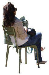 People cutouts: Woman Sitting 0005 cutout download