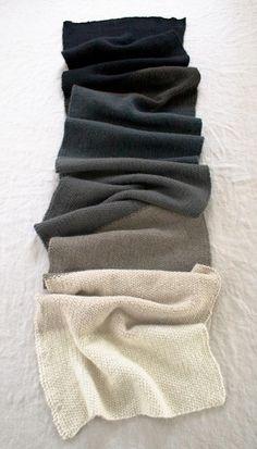 Ombré Black, Grey & Creme Scarf, Cashmere, Men's Fall Winter Fashion.