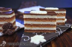 Hungarian Desserts, Hungarian Recipes, Sweet Cookies, Sweet Treats, Kolaci I Torte, Cake Bars, Small Cake, Chocolate Hazelnut, Sweet Recipes