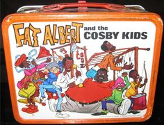 This is a nice vintage metal Fat Albert and The Cosby Kids lunchbox. This box is not easy to come by. I loved loved loved this cartoon when I was a kid.