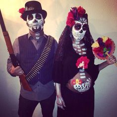 Pregnant halloween custome Day of the dead