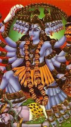 Maha Kali and Shiva Indian Goddess, Kali Goddess, Mother Goddess, Jay Maa Kali, Kali Mata, Durga Kali, Shiva Shakti, Kali Dance, Goddess Of Destruction