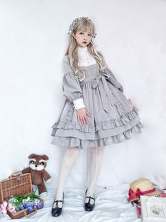 Pin on Lolita fashion Pin on Lolita fashion Set Fashion, Japan Fashion, Lolita Fashion, Fashion Outfits, Fashion Design, Fashion Clothes, Style Lolita, Mode Lolita, Gothic Lolita