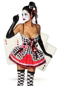 Harlequin Costume & good luxury lingerie Sexy Harlequin Costume & Luxury Good Lingerie Description: The Harlequin - a classic for Carnival! Costume Halloween, Halloween Costumes For Girls, Girl Costumes, Cosplay Costumes, Clown Costumes, Halloween Ideas, Costume Ideas, Best Lingerie, Luxury Lingerie