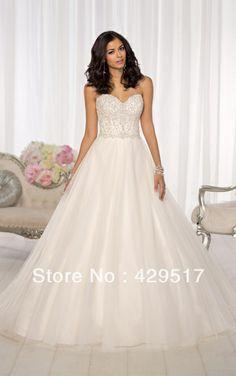 Classy  Lebanon  Organza  Bride dress Cinderella  Sweetheart  Open back  Long train  Ball gown  Wedding dress   $149.00