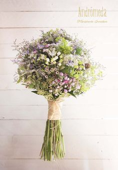 RAMOS DE NOVIA SILVESTRES #bouquet #wedding -FLW