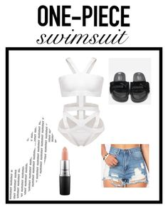 """Untitled #96"" by adiduss-1 on Polyvore featuring MAC Cosmetics and ruffledswimwear"