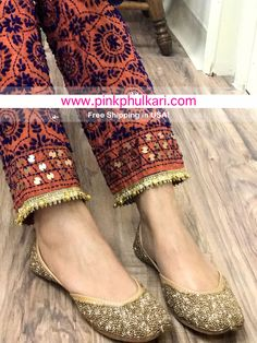 Phulkari Pants Shop Online in USA. Free Shipping in USA! Worldwide shipping. Order Online 📲www.PinkPhulkari.com Phulkari Pants, Salwar Pants, Pakistani Formal Dresses, Pakistani Dress Design, Indian Suits, Indian Wear, Cute Casual Outfits, Casual Dresses, Latest Outfits
