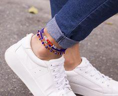 TOBILLERA AZUL REY - Comprar en accesorios Ave Maria High Tops, High Top Sneakers, Shoes, Fashion, Anklets, Blue Nails, Accessories, Moda, Zapatos