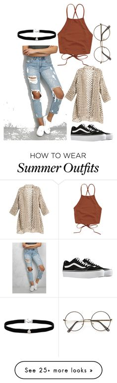 """""""On the go outfit"""" by shelbysash on Polyvore featuring Rare London, Vans and Amanda Rose Collection"""