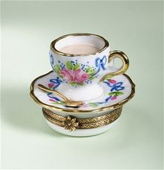 Limoges Roses Cup and Saucer Box The Cottage Shop