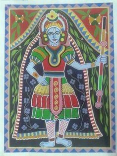Indian madhubani art....yakshagana style