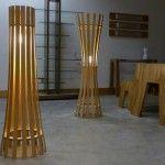 Cool Floor Lamps for the Dazzling Look: Wood cool floor lamps