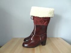 All Weather Rubber Boots size 9 All Weather Boots, Shearling Boots, 3 Inch Heels, Burgundy Color, Ugg Boots, Uggs, I Am Awesome, Vintage Items, Pairs