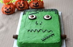 Cake «Frankenstein». Recipe here: http://recipes-read.com/2015/10/12/cake-frankenstein/