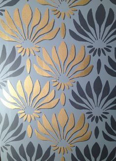 Olive Leaf Stencils: How to make your walls Pop by stenciling a Shadow Effect.