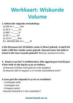 volume wiskunde maatbeker lepels hoezit