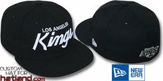Kings TEAM-SCRIPT Black-White Fitted Hat by New Era on hatland.com
