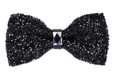You'll be shining at any black tie event wearing this black, crystal bow tie.                                                                                                                                                                                 More