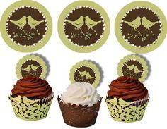 Printable Bird Cupcake Toppers