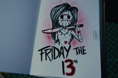 #friday13th #girl #cute #jasongirl #draw #sketchbook #sketch #desenho #ilustração #illustration