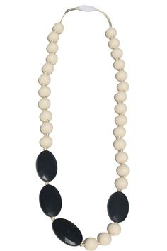 Rachel Silicone Teething Necklace | Mama & Little Teething Chewelry Teething Bracelet, Teething Jewelry, Amber Teething Necklace, Genius Baby Products, Black Licorice, Asymmetrical Design, Drawstring Pouch, Baby Registry, Breastfeeding