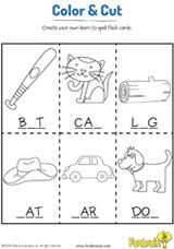 common worksheets 187 three letter words for preschool print color and cut these spelling flashcards to 524