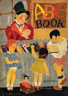 """ABC Book"" illustrated by Jan Cragin, Saalfield, 1929."