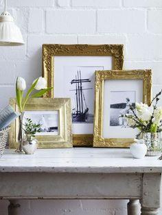 schritt f r schritt bilderrahmen vergolden diy ideen pinterest bilderrahmen rahmen und. Black Bedroom Furniture Sets. Home Design Ideas