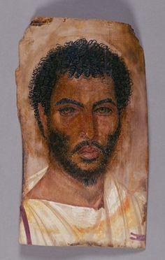 Mummy Portrait of a bearded man, c.150-170 AD (encaustic on wood)