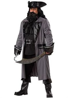 The Blackbeard Pirate plus size fancy dress costume pack includes a full length coat with a leatherette coat collar and cuffs. Halloween Costumes Plus Size, Plus Size Costume, Adult Costumes, Pirate Costumes, Halloween Ideas, Pirate Outfits, Costume Ninja, Deer Costume, Turtle Costumes