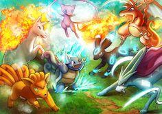 The Forest Pokemon Showdown by Gevurah-Studios on deviantART