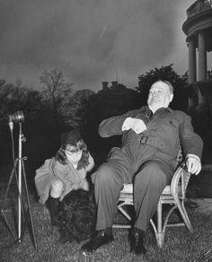 Winston Churchill in his Siren Suit