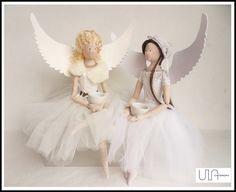Tilda angel - Anioły na kawie :-)