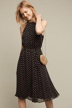 Golden Dots Halter Dress