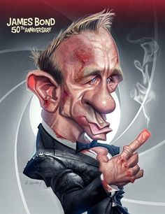 Daniel Craig | 29 Celebrity Caricatures That Are Incredibly Accurate