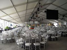 A 30 meter wide Losberger clearspan tent installed at O'Hare airport for a fundraiser. Large Tent, Tents, Hare, Pavilion, Fundraising, Wedding Venues, American, Projects, Teepees