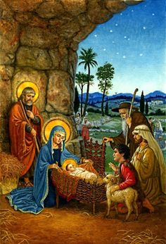 Baú de Figuras: Nascimento de Jesus imagens decoupage
