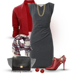 """Red & Grey"" by oribeauty-cosmeticos on Polyvore"