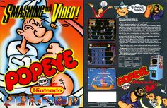Popeye Arcade Game (1982) - developed by Nintendo. Currently part of my collection... great game.