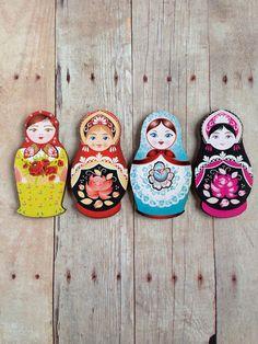 Matryoshka Russian Doll Brooch