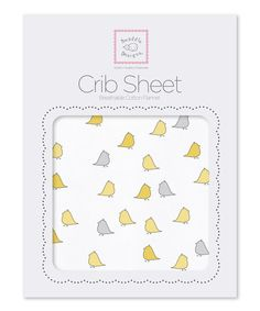 Look at this #zulilyfind! Yellow Little Chickies Fitted Crib Sheet by SwaddleDesigns #zulilyfinds