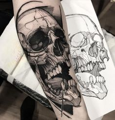 Our Website is the greatest collection of tattoos designs and artists. Find Inspirations for your next Skull Tattoo. Search for more Tattoos. Tattoo Scull, 4 Tattoo, Skull Tattoo Design, Dark Tattoo, Dot Work Tattoo, Grey Tattoo, Skull Tattoos, Tattoo Blog, Body Art Tattoos