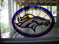 Broncos Or Bust - Delphi Stained Glass